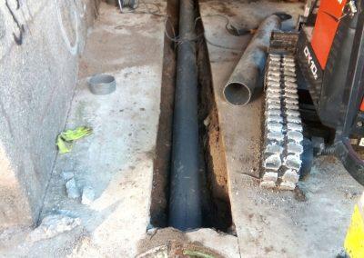 Obra de saneamiento en Ourense