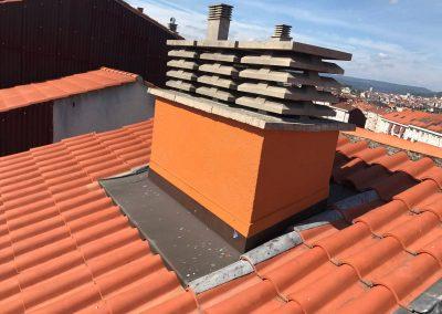 Reparación de chimenea y cubierta en Ourense